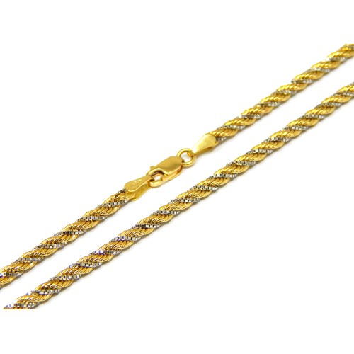 Corrente em Ouro 18k Cordão Baiano 2 cores 45cm ... fe90c2e9e4