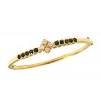 Pulseira Bracelete Algema de Safiras e Diamantes Ouro 18k