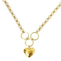 Gargantilha em Ouro 18k Portuguesa Com Coração