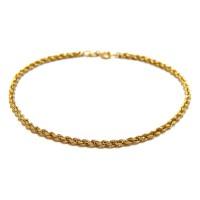 Pulseira Cordão Baiano Em Ouro 18k