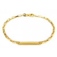 Pulseira de Chapa Infantil Em Ouro 18k Cartier Quadrada