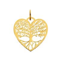 Pingente Em Ouro 18k Árvore Da Vida Coração