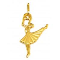 Pingente Em Ouro 18k Bailarina