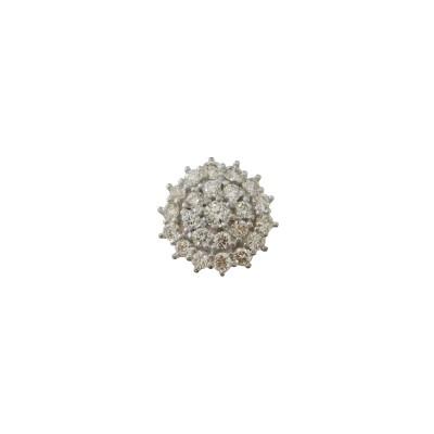 Pingente Em Ouro 18k  Ponto de Luz De Diamantes