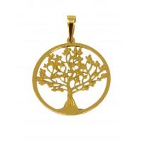 Pingente Em Ouro 18k Árvore Da Vida Polida